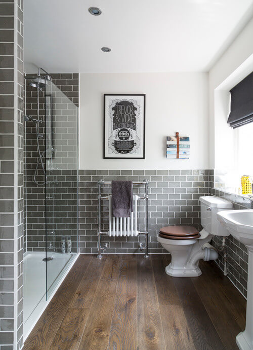 Subway tiles are a great way to create a classic feel.
