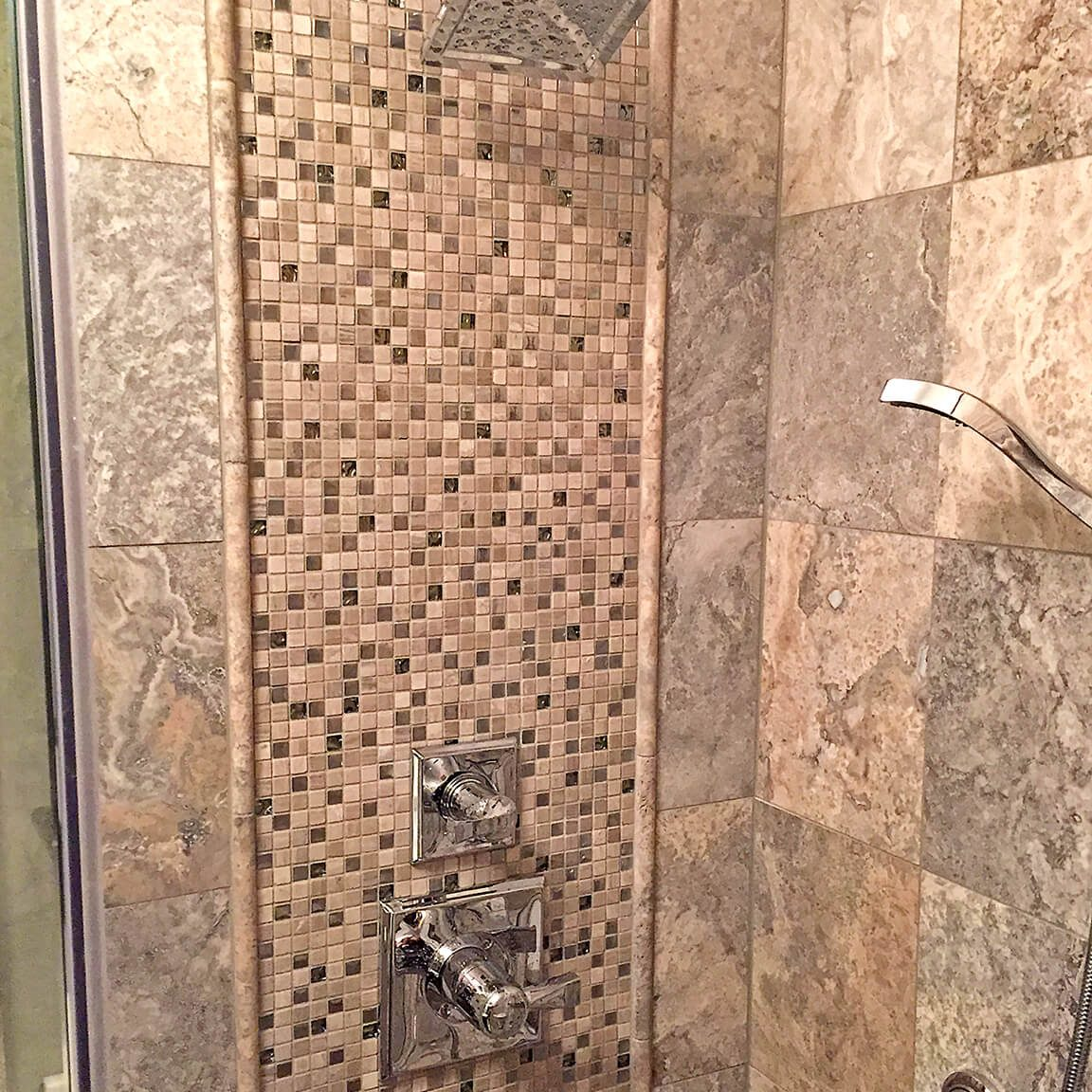 Kinetic Kitchen and Bath Our Work Gallery Photo - Bathroom remodel design photo of tile and shower details